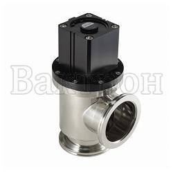 ULVAC VLP-SB - угловой клапан из нержавеющей стали с сильфонным уплотнением штока и с пневматическим приводом двойного действия.