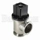 ULVAC VLP-MB - угловой клапан из нержавеющей стали для высоковакуумных применений с пневматическим приводом двойного действия.
